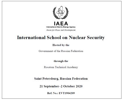International School on Nuclear Security