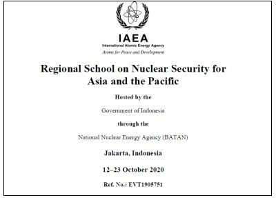 Regional School on Nuclear Security for Asia and the Pacific