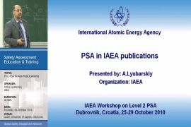 PSA in IAEA Publications