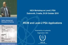 IRIDM and Level-2 PSA Applications (Part I)