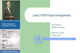 Level-2 PSA Project Arrangements